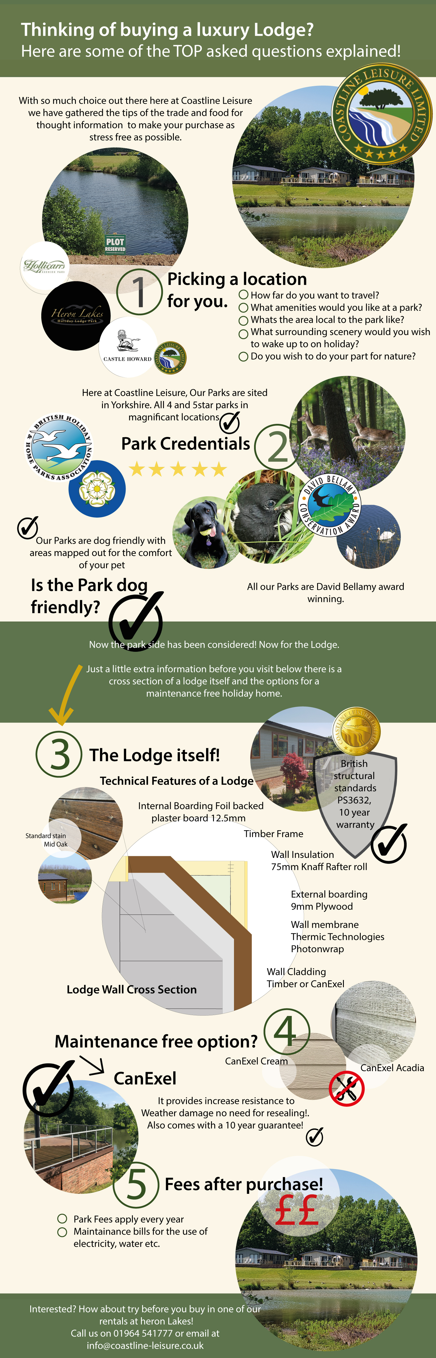 Considering purchasing a brand new lodge? An Infographic showing the top tips for buying a luxury lodge.