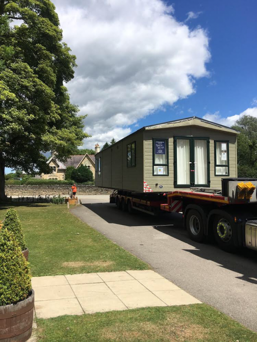 Upgrading a caravan at Castle Howard. Upgrade Blog