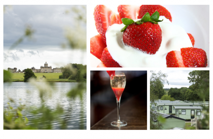 Lakeside Lodge Launch. Strawberries and prosecco.