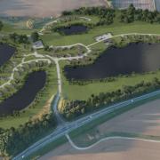 Ariel Image of Heron Lake Expansion - After